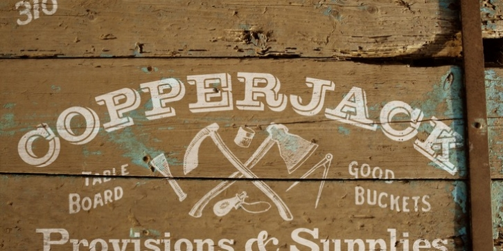 Copperjack font preview