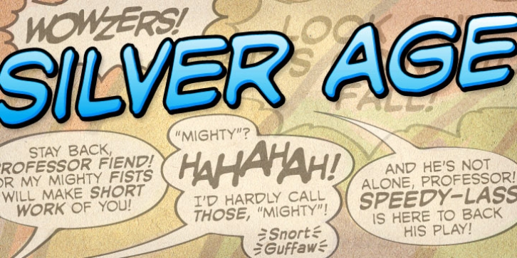Silver Age BB font preview
