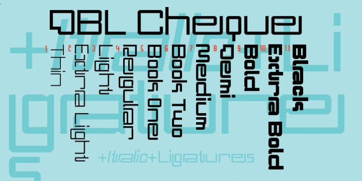 DBL Cheque font preview