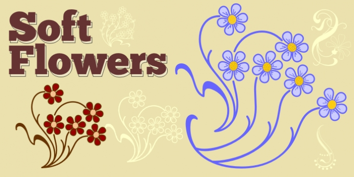 Soft Flowers font preview