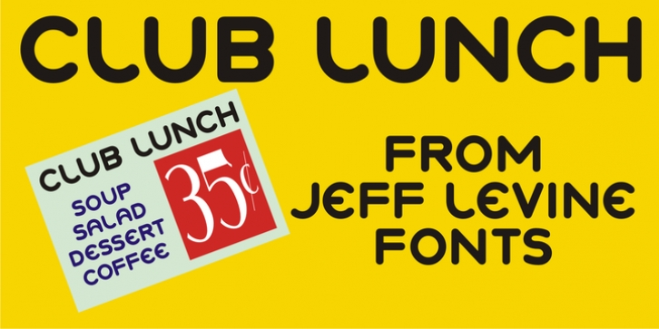 Club Lunch JNL font preview