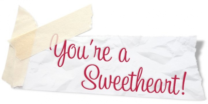 Sweetheart Script font preview
