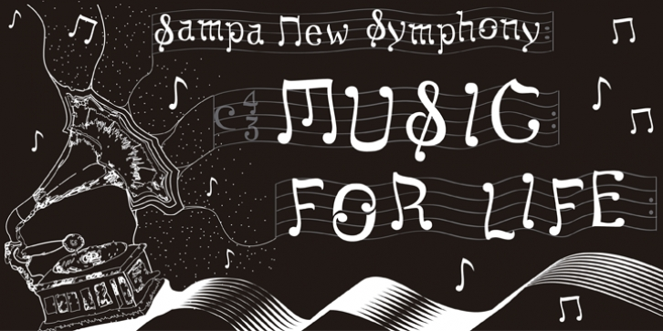 Sampa New Symphony font preview