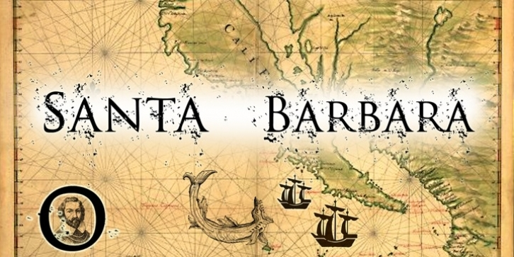 Santa Barbara font preview
