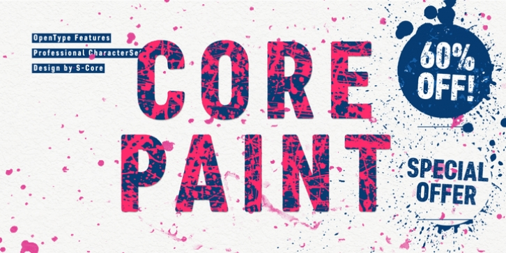 Core Paint font preview