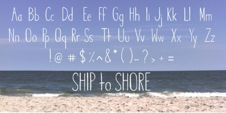 Ship to Shore font preview