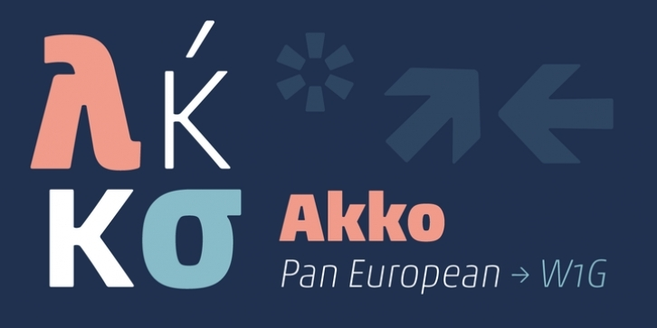 Akko Pan-European font preview