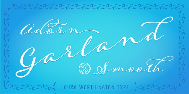 Adorn Garland Smooth font preview