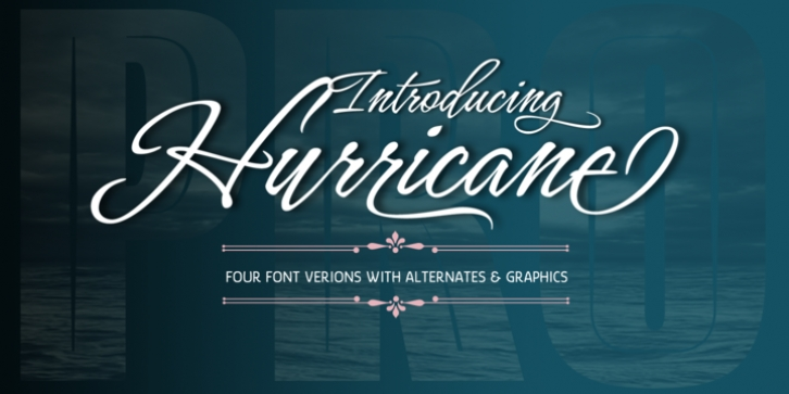 Hurricane font preview