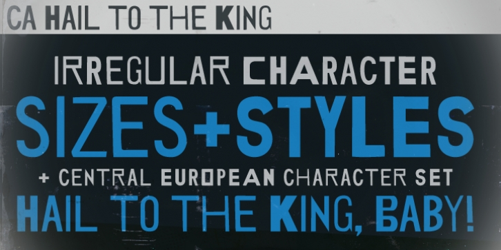CA Hail To The King font preview