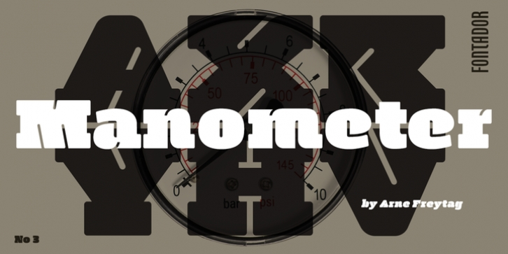 Manometer font preview