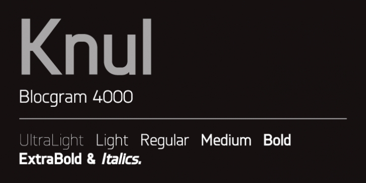 Knul font preview