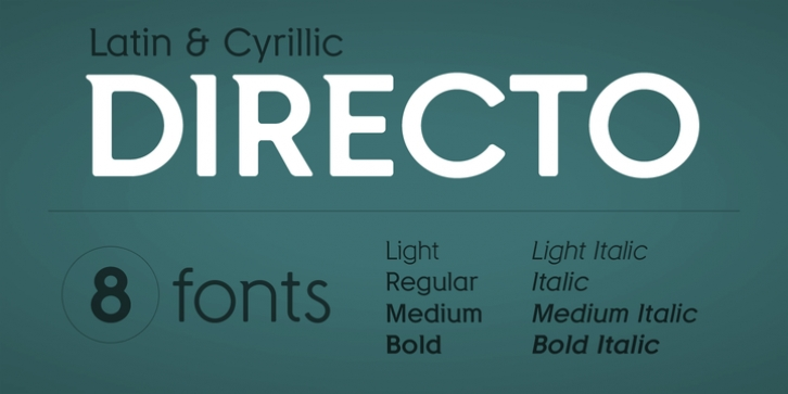 Directo font preview