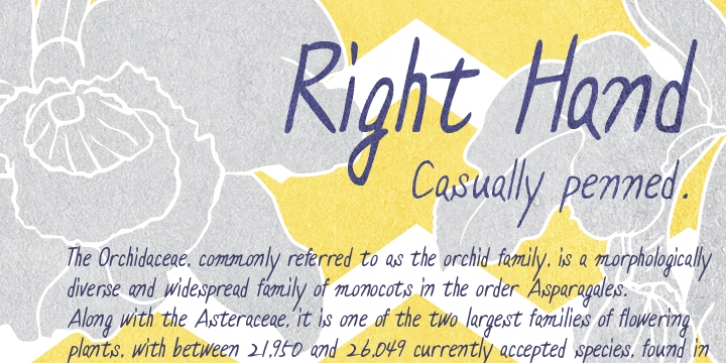 Right Hand font preview