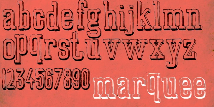 Marquee font preview