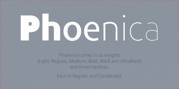 Phoenica PRO font preview