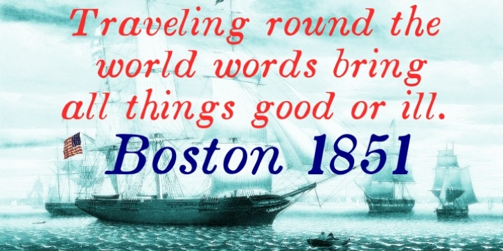 Boston 1851 font preview