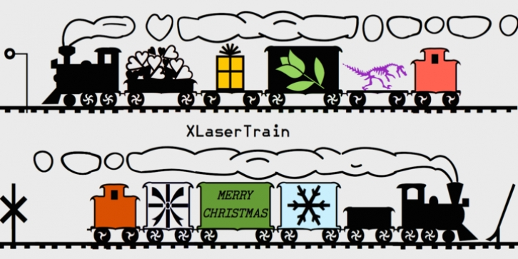XLaserTrain font preview