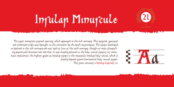 Cal Insular Minuscule font preview