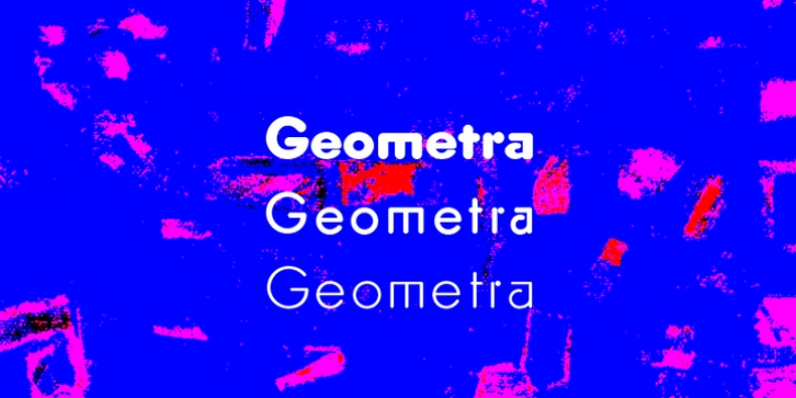 Geometra Rounded font preview