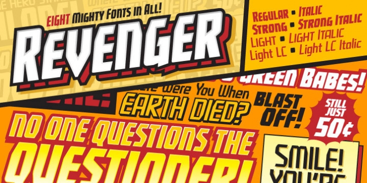 Revenger BB font preview