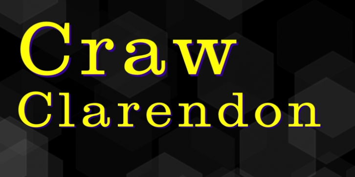 Craw Clarendon font preview