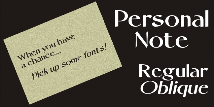 Personal Note JNL font preview