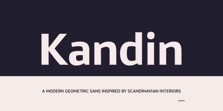 Kandin font preview
