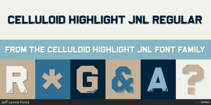 Celluloid Highlight JNL font preview