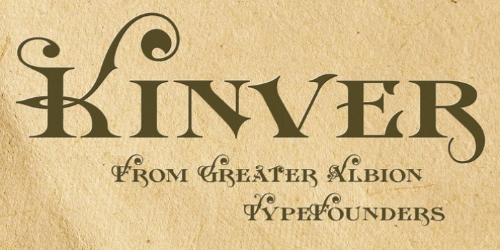 Kinver font preview