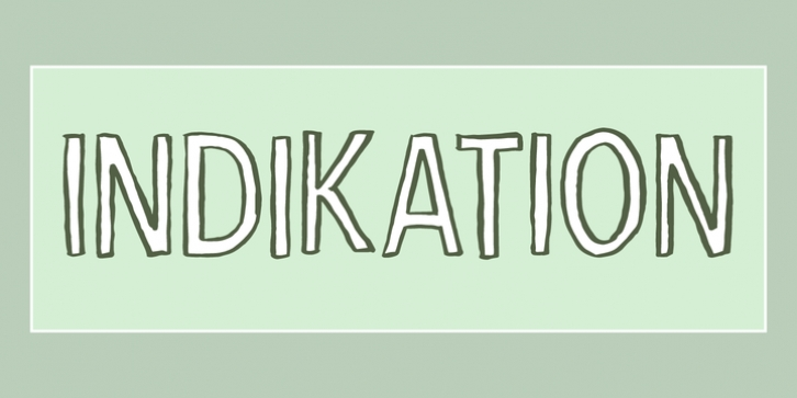 Indikation font preview