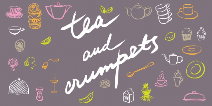 Tea And Crumpets font preview