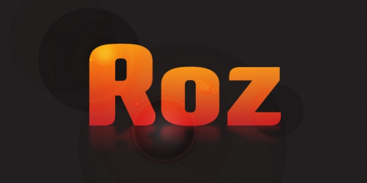 Roz font preview