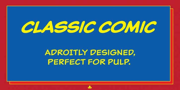 Classic Comic font preview