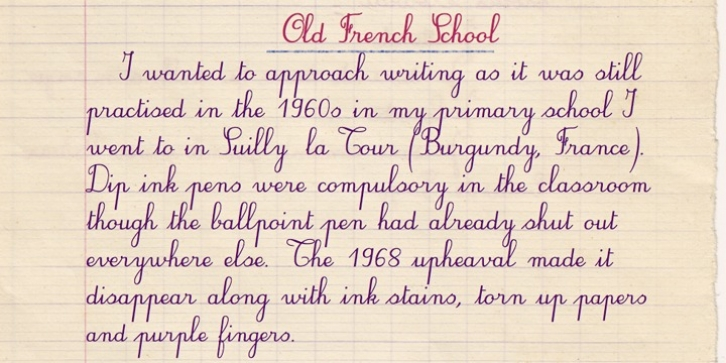 Old French School font preview