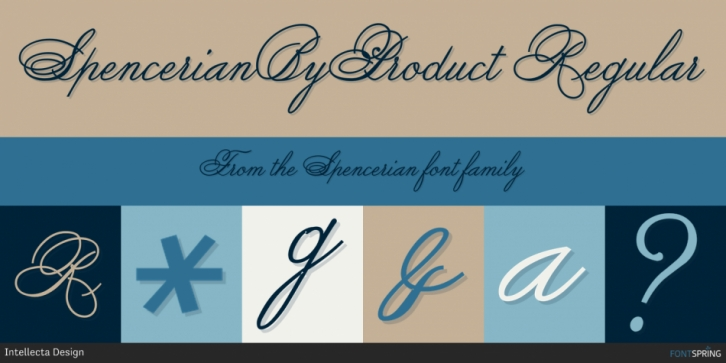 Spencerian font preview