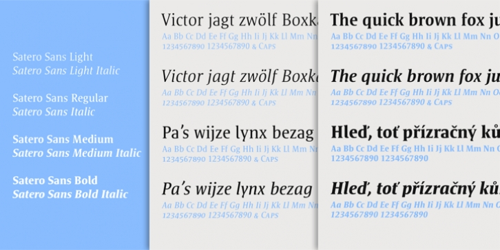 Satero Serif font preview
