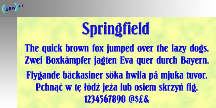 Springfield font preview