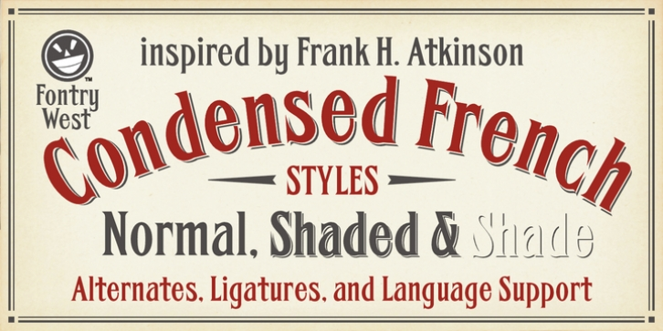 FHA Condensed French font preview