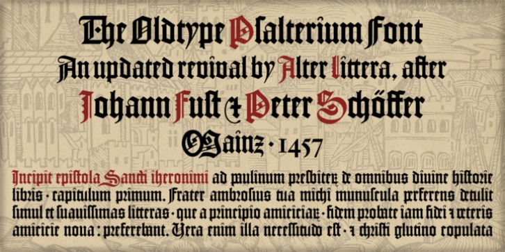 Psalterium font preview