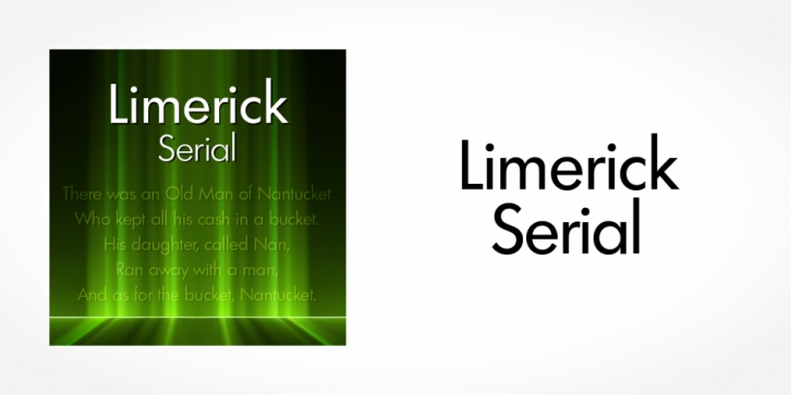 Limerick Serial font preview