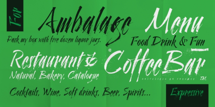 Cal Expressive font preview