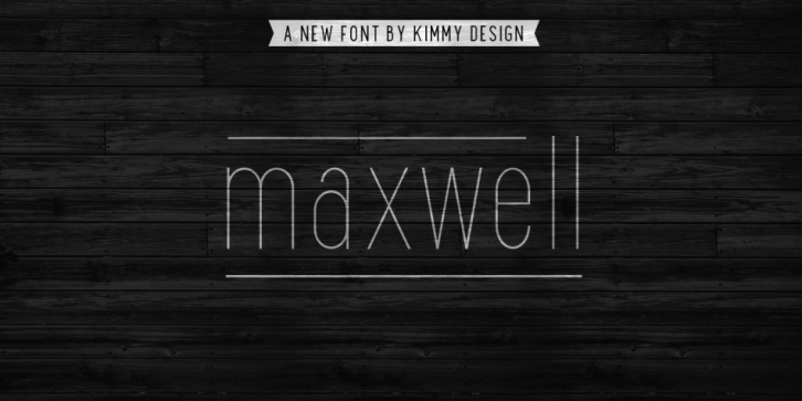 Maxwell font preview