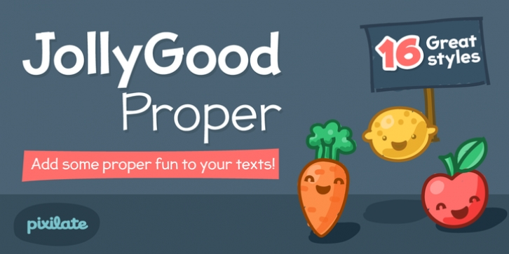 JollyGood Proper font preview