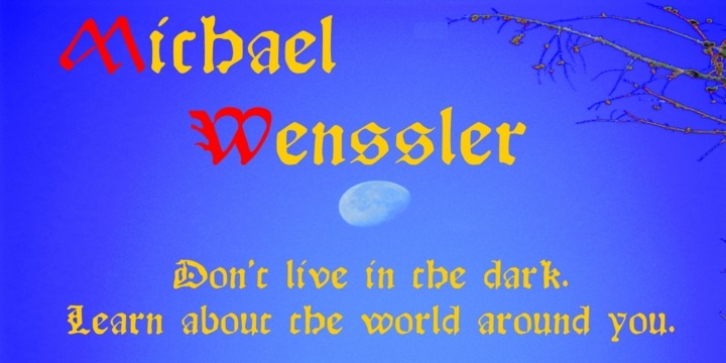 Michael Wenssler font preview