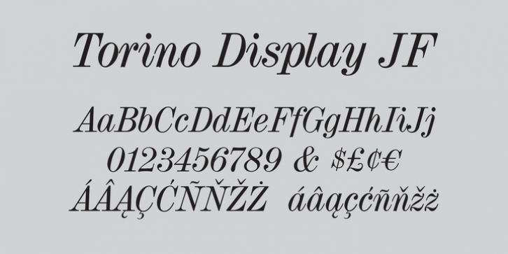 Torino Display JF Pro font preview