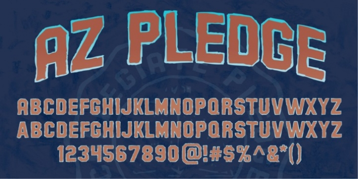 AZ Pledge font preview