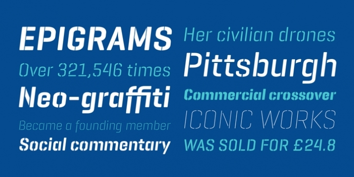 Geogrotesque Stencil Italic font preview