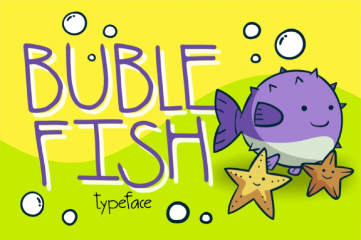 Buble Fish font preview