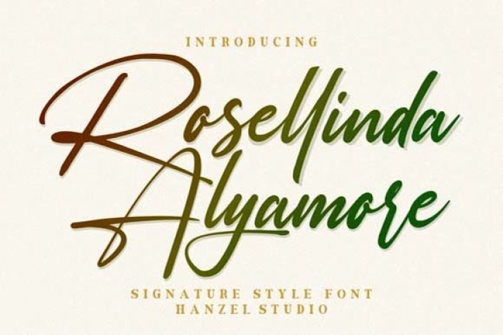 Rosellinda Alyamore font preview